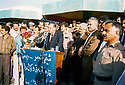 Iraq 1993? <br /> In Imad Ahmed near Chenchemal, commemoration of Sheikh Mahmoud with Jalal Talabani giving a speech, around him from left to right, Omar Fatah,Mullazem Omar and Sheikh Jaffar  <br /> Irak 1993? <br /> A Imad Ahmed pres de Chenchemal Jalal Talabani donne un discours a la memoire de Sheikh Mahmoud avec autour de lui, Omar Fatah, Mullazem Omar et Sheikh Jaffar