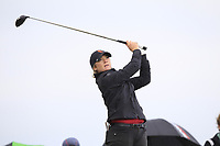 Amelia Garvey (NZL) on the 9th tee during the Matchplay Final of the Women's Amateur Championship at Royal County Down Golf Club in Newcastle Co. Down on Saturday 15th June 2019.<br /> Picture:  Thos Caffrey / www.golffile.ie