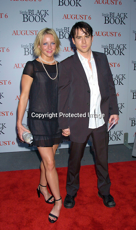 "Christian Campbell and date ..at The Premiere of "" Little Black Book"" on July 21, 2004 ..at The Ziegfeld Theatre. ..Photo by Robin Platzer, Twin Images"