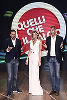 Milano 06/09/2017 - photocall trasmissione Tv Quelli che il calcio / foto Daniele Buffa/Image/Insidefoto <br /> nella foto: Luca Bizzarri-Mia Ceran-Paolo Kessisoglu