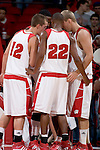MADISON, WI - NOVEMBER 8: The Wisconsin Badgers huddle during the game against the Carroll College Pioneers at the Kohl Center on November 8, 2006 in Madison, Wisconsin. The Badgers beat the Pioneers 81-61. (Photo by David Stluka)