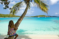 Sitting on a palm tree<br />
