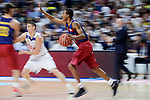 Real Madrid's Jaycee Carroll and FC Barcelona Lassa's Alex Renfroe during Liga Endesa match between Real Madrid and FC Barcelona Lassa at Wizink Center in Madrid, Spain. March 12, 2017. (ALTERPHOTOS/BorjaB.Hojas)