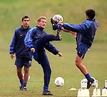 jonatan Johansson and Claudio Reyna at training