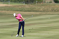 Steven Brown (ENG) plays his 2nd shot on the 13th hole during Saturday's Round 3 of the Porsche European Open 2018 held at Green Eagle Golf Courses, Hamburg Germany. 28th July 2018.<br /> Picture: Eoin Clarke | Golffile<br /> <br /> <br /> All photos usage must carry mandatory copyright credit (&copy; Golffile | Eoin Clarke)