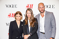 Ann-Sofie Johansson, Johnny Wujek, Kate Mara, H&M Vogue Event on September 4, 2014 (photo by Travis W Keyes/Guest Of A Guest