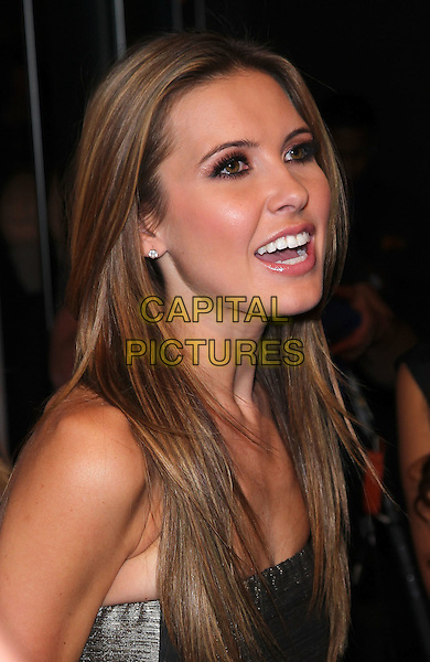 AUDRINA PATRIDGE .Audrina Patridge hosts a night at Pure Nightclub inside Caesar's Palace Resort Hotel and Casino,  Las Vegas, Nevada, USA, 5th February 2011..portrait headshot  profile speaking strapless grey gray silver mouth open .CAP/ADM/MJT.© MJT/AdMedia/Capital Pictures.