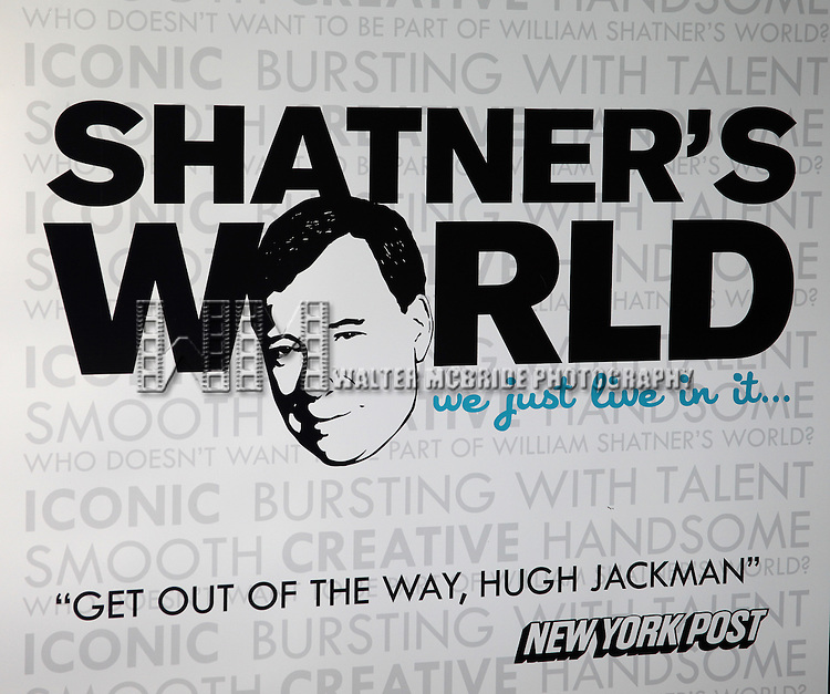 William Shatner attends the Meet & Greet for 'Shatner's World: We Just Live'  In New York City on 2/10/2012.
