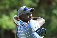 Alfred Nandwa (KEN) in action during the first round of the Magical Kenya Open presented by ABSA played at Karen Country Club, Nairobi, Kenya. 14/03/2019<br /> Picture: Golffile | Phil Inglis<br /> <br /> <br /> All photo usage must carry mandatory copyright credit (&copy; Golffile | Phil Inglis)