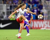 Orlando, FL - Saturday July 07, 2018: Estefania Banini during the first half of a regular season National Women's Soccer League (NWSL) match between the Orlando Pride and the Washington Spirit at Orlando City Stadium.
