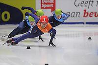 SHORTTRACK: DORDRECHT: Sportboulevard Dordrecht, 25-01-2015, ISU EK Shorttrack, 1000m Men Finale A, Sjinkie KNEGT (NED | #1), ©foto Martin de Jong