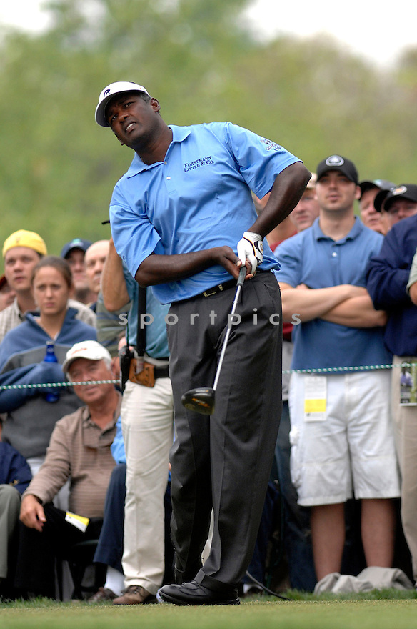 Vijay Singh during the week of May 1- May  6, 2007 at the  PGA'S Wachovia Golf Championship at the Quail Hollow Country Club in Charlotte, North Carolina.   Tiger Woods would win the tournament by two strokes over Steve Stricker...photo by Don Kelly