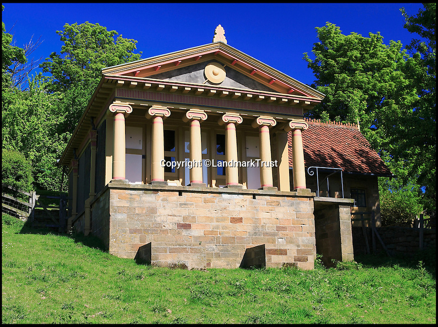 BNPS.co.uk (01202 558833)<br /> Pic: LandmarkTrust/BNPS<br /> <br /> Fancy cleaning up a pigsty? - Unusual Job advert is not as bad as it sounds.<br /> <br /> The Landmark Trust are looking for a cleaner to look after Britain's grandest pigsty. <br /> <br /> The neo classical masterpiece was constructed by eccentric landowner Squire John Barry in 1892 to house just two of his prize porkers.<br /> <br /> But after careful restoration of its Ionic columns and classical pediment by the Trust it is now rented out as an holiday let and is in need of a housekeeper to look after it.