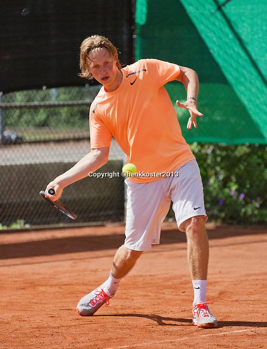 08-08-13, Netherlands, Rotterdam,  TV Victoria, Tennis, NJK 2013, National Junior Tennis Championships 2013, Jelle Sels<br /> <br /> <br /> Photo: Henk Koster