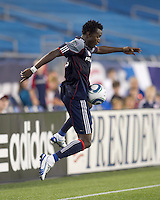 New England Revolution forward Kenny Mansally (7) works to keep ball in play. The New England Revolution defeated DC United, 1-0, at Gillette Stadium on August 7, 2010.