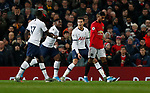 Tottenham Hotspur's Dele Alli (C) celebrates with teammates after scoring during the Premier League match at Old Trafford, Manchester. Picture date: 4th December 2019. Picture credit should read: Darren Staples/Sportimage