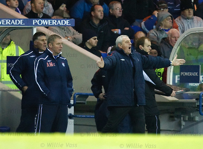 Walter Smith not happy as Rangers lose a goal