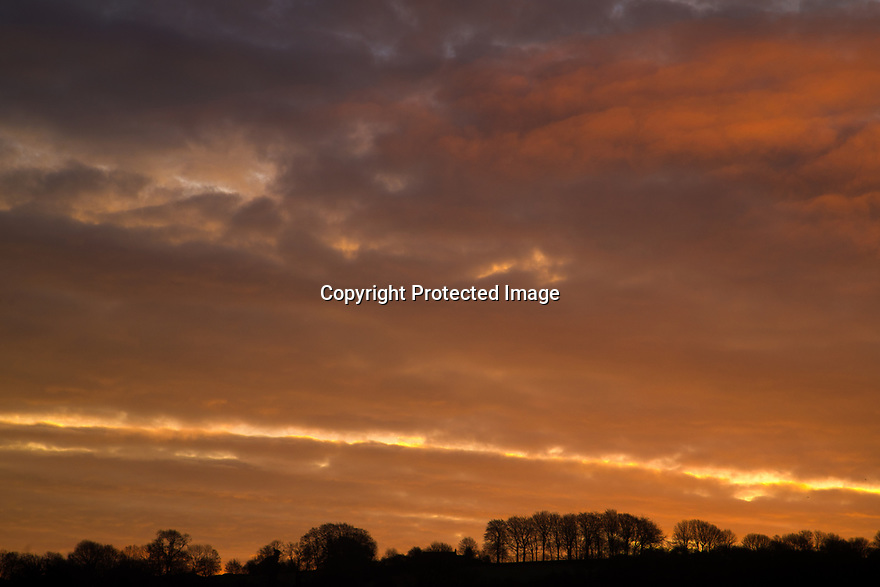 12/02/19<br /> <br /> An ominous sky appears as dawn breaks over Wirksworth in the Derbyshire Peak District. <br /> <br /> All Rights Reserved, F Stop Press Ltd.  (0)7765 242650  www.fstoppress.com rod@fstoppress.com