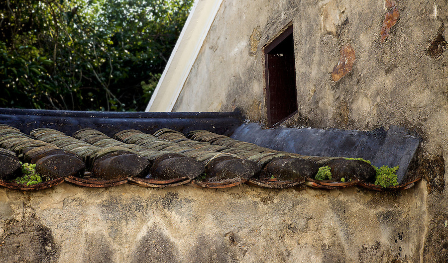 Roof detail at the Sheung Yiu Village, Sai Kung. A fortified Hakka village built on raised ground in around 1850.