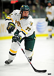 12 December 2009: University of Vermont Catamount defenseman Josh Burrows, a Junior from Prairie Grove, IL, in action against the St. Lawrence University Saints at Gutterson Fieldhouse in Burlington, Vermont. The Catamounts shut out their former ECAC rival Saints 3-0. Mandatory Credit: Ed Wolfstein Photo