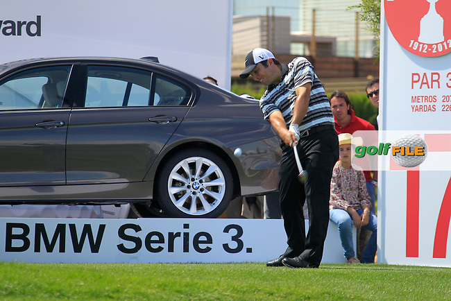 Francesco Molinari (ITA) tees off the 17th tee during Sunday's Final Round of the Open de Espana at Real Club de Golf de Sevilla, Seville, Spain, 6th May 2012 (Photo Eoin Clarke/www.golffile.ie)