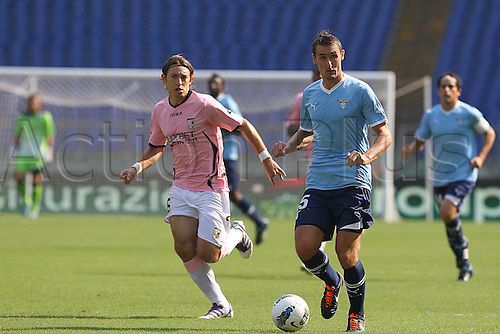 25.09.2011 Rome Italy.   Klose in action during the Serie A match between S.S. Lazio and Palermo, played in the Stadio Olimpico Rome.
