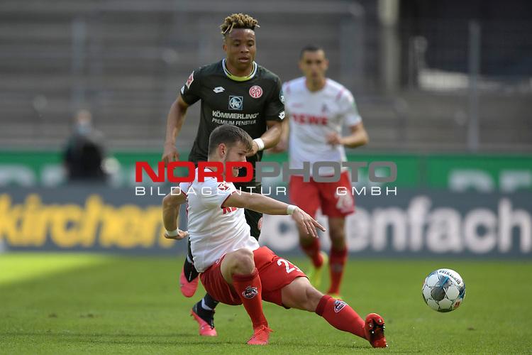 nph00351: Jan THIELMANN  (1.FC Koeln)<br /> Aktion,Zweikampf gegen <br /> Pierre KUNDE (1.FSV Mainz 05) .<br /> Sport: Fussball: 1. Bundesliga: Saison 19/20: 26.Spieltag: 1.FC KOELN-FSV MAINZ 05,17.05.2020.<br /> Foto: Anke Waelischmiller/SVEN SIMON/POOL / via Meuter/nordphoto<br /> <br /> Nur für journalistische Zwecke! Only for editorial use!<br /> Gemäß den Vorgaben der DFL Deutsche Fußball Liga ist es untersagt, in dem Stadion und/oder vom Spiel angefertigte Fotoaufnahmen in Form von Sequenzbildern und/oder videoähnlichen Fotostrecken zu verwerten bzw. verwerten zu lassen. DFL regulations prohibit any use of photographs as image sequences and/or quasi-video.