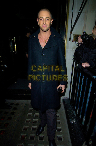 BRIAN FREIDMAN.Attending Kimberly Walsh's Birthday Party at The Burlington Club, London, England, November 24th 2007..Kimberley full length black coat friedman.CAP/CAN.©Can Nguyen/Capital Pictures