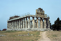 Italy: Paestum--Ceres Temple, late 6th C. B.C. Photo '83.