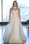 "Model Brooke walks runway in a ""Willa"" bridal gown from the Rivini Spring Summer 2017 bridal collection by Rita Vinieris at The Standard Highline Room, during New York Bridal Fashion Week on April 15, 2016."
