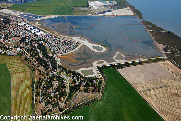 aerial photograph Hamilton Airfield, Novato, Marin county, California