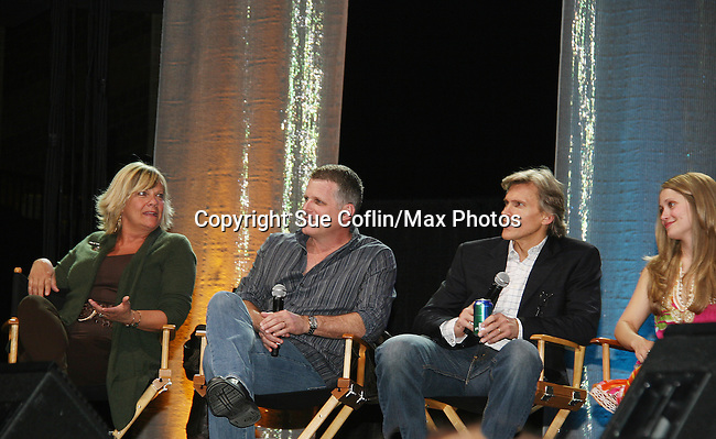 Kim Zimmer - Robert Newman - Grant Aleksander & Marcy Rylan on stage - Guiding Light Cast  - So Long Springfield celebrating 7 wonderful decades of Guiding Light Event - come to see fans at Mohegan Sun, Uncasville, Ct on March 7, 2010. (Photo by Sue Coflin/Max Photos)
