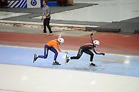 SPEEDSKATING: SALT LAKE CITY: 08-12-2017, Utah Olympic Oval, ISU World Cup, Mass Start Ladies, Semi-Final, Annouk van der Weijden (#14 | NED), ©photo Martin de Jong