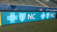 Cary, North Carolina  - Saturday August 05, 2017: Blue Cross Blue Shield of North Carolina signboard prior to a regular season National Women's Soccer League (NWSL) match between the North Carolina Courage and the Seattle Reign FC at Sahlen's Stadium at WakeMed Soccer Park. The Courage won the game 1-0.