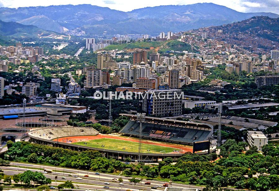 Estádio de futebol na cdade de Caracas. Venezuela. 1987. Foto de Daniel Augusto Jr.