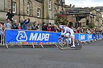 Bob Jungels (LUX) in action during the Men Elite Individual Time Trial of the UCI World Championships 2019 running 54km from Northallerton to Harrogate, England. 25th September 2019.<br /> Picture: Eoin Clarke | Cyclefile<br /> <br /> All photos usage must carry mandatory copyright credit (© Cyclefile | Eoin Clarke)