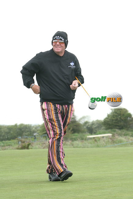 John Daly during the Pro-Am at the Irish Open in Co.Louth Golf Club,  Baltray...Photo NEWSFILE/Jenny Matthews.(Photo credit should read Jenny Matthews/NEWSFILE)....This Picture has been sent you under the condtions enclosed by:.Newsfile Ltd..The Studio,.Millmount Abbey,.Drogheda,.Co Meath..Ireland..Tel: +353(0)41-9871240.Fax: +353(0)41-9871260.GSM: +353(0)86-2500958.email: pictures@newsfile.ie.www.newsfile.ie.FTP: 193.120.102.198.