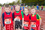 Kenmare runners Killian Daly, Thomas O'Reilly, Cathal kelleher, and Ciaran O'Donoghue who competed in the County Championships in Castleisland on Saturday