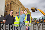 Over seeing a delivery of much needed cattle fodder was Diarmaid Brosnan(Porto Haulage-Killarney), Tony O'Sullivan(Kerry Agri), John O'Connor(Scartaglin) and Declan Lynch(Manager Kerry Agri), pictured here last Tuesday in Castleisland.