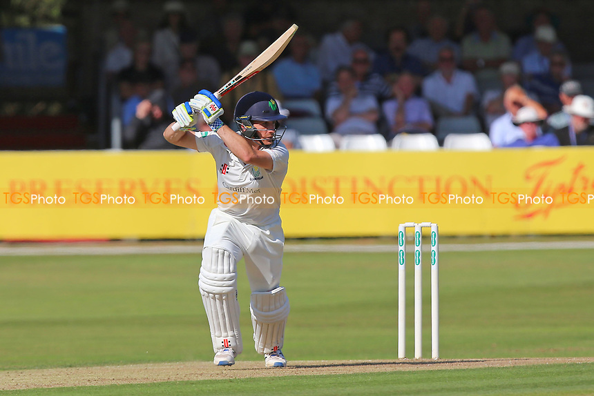 Mark Wallace hits four runs for Glamorgan during Essex CCC vs Glamorgan CCC, Specsavers County Championship Division 2 Cricket at the Essex County Ground on 12th September 2016