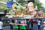 Star Wars Nebuta, an illuminated float is seen during a Halloween parade in Kawasaki, near Tokyo, on Sunday, October 25, 2015. (Photo by AFLO)