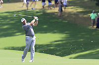 Lee Westwood (ENG) plays his 2nd shot on the 18th hole during Saturday's Round 3 of the 2017 PGA Championship held at Quail Hollow Golf Club, Charlotte, North Carolina, USA. 12th August 2017.<br /> Picture: Eoin Clarke | Golffile<br /> <br /> <br /> All photos usage must carry mandatory copyright credit (&copy; Golffile | Eoin Clarke)