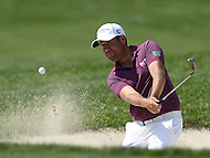Bethesda, MD - June 26, 2016: Erik Compton plays a shot from the bunker on the 11th hole during Final Round of play at the Quicken Loans National Tournament at the Congressional Country Club in Bethesda, MD, June 26, 2016. Compton finished play at -3. (Photo by Don Baxter/Media Images International)