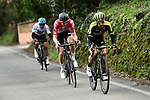 Simon Yates (GBR) Mitchelton-Scott, Tim Wellens (BEL) Lotto-Soudal and Sergio Henao (COL) Team Sky attack near the end of Stage 6 running 198km from Sisteron to Vence, France. 9th March 2018.<br /> Picture: ASO/Alex Broadway | Cyclefile<br /> <br /> <br /> All photos usage must carry mandatory copyright credit (&copy; Cyclefile | ASO/Alex Broadway)