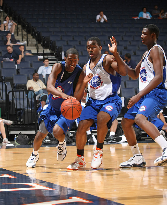 Eric Atkins handles the ball during the 2009 NBPA Top 100 Basketball Camp held Friday June 17- 20, 2009 in Charlottesville, VA. Photo/ Andrew Shurtleff