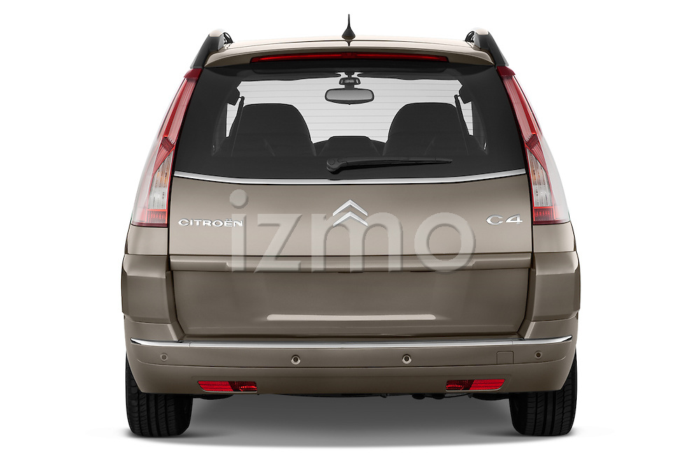 Straight rear view of a 2010 Citroen GRAND C4 PICASSO Millenium 5 Door Minivan 2WD