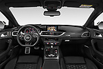 Stock photo of straight dashboard view of a 2019 Audi RS 6 Avant Base 5 Door Wagon