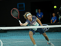 29th January 2020; Melbourne Park, Melbourne, Victoria, Australia; Australian Open Tennis, Day 10; Alexander Zverev of Germany at the net during his mens singles semi-final match against Dominic Thiem of Austria