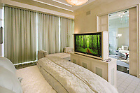Bedroom With TV Footboard And Lighting Control