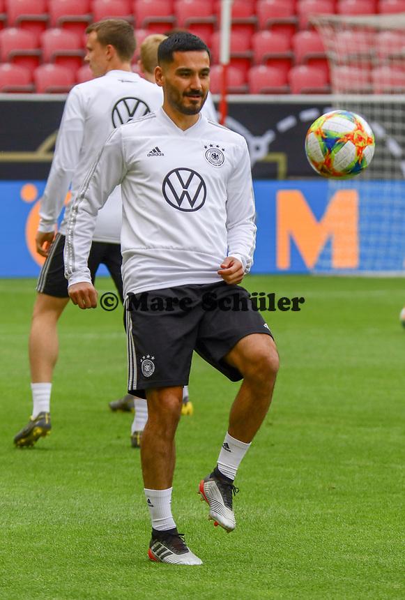 Ilkay Gündogan (Deutschland, Germany) - 10.06.2019: Abschlusstraining der Deutschen Nationalmannschaft vor dem EM-Qualifikationsspiel gegen Estland, Opel Arena Mainz
